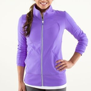 Long & fitted Lululemon Contempo purple zip up